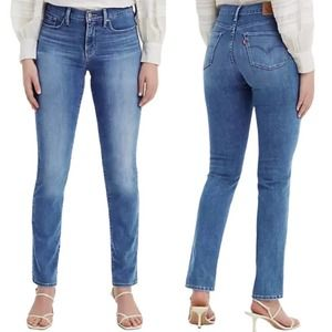 Levi's • 312 Shaping Slim Mid Rise Blue Jeans • 28